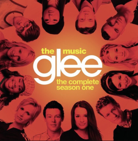 The album cover for the first season of the hit show 'Glee'. It aired on FOX from 2009 to 2015