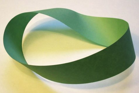 The Mobius strip can be seen in everyday objects as common as a piece of paper.