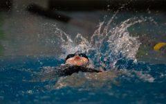 Isabella Keene, Freshman, doing the Backstroke.