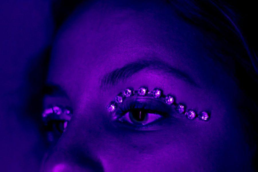 Self portrait themed flashy.