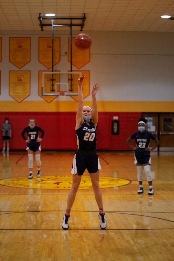 Senior Sofia Tweedie taking her free throws from a foul