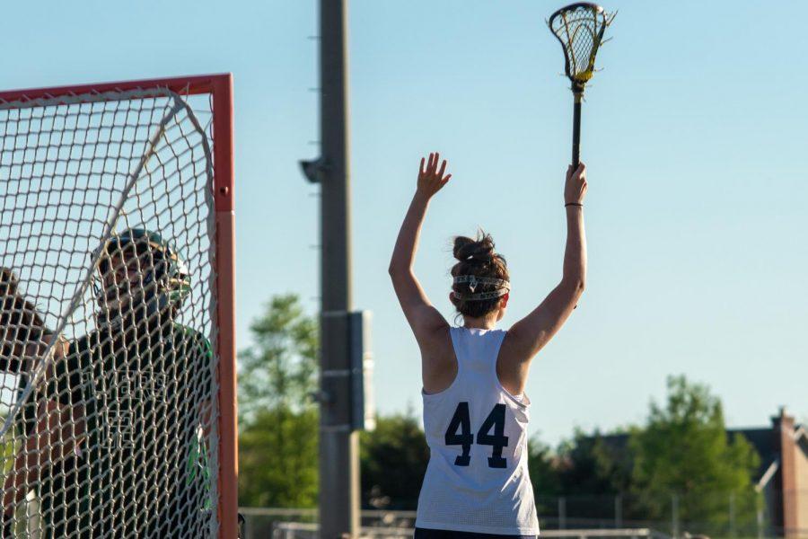 Jenna Wood celebrating another goal.