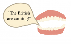 TALKING TEETH: A pair of dentures shouts,