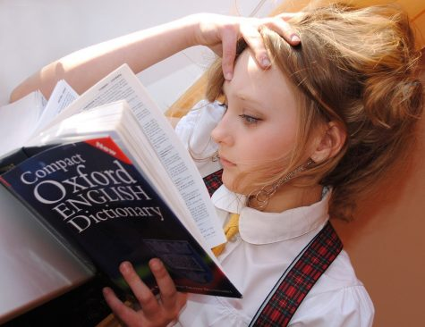 A very young girl reads the dictionary. SEGA students cover more curriculum in less time, isolating them from their peers.