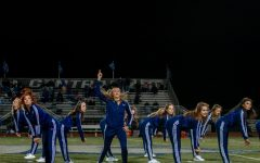 The sensations perform during half time on Friday Oct. 23. I like this picture because of the subject balance and the dramatic effect of the coloring.