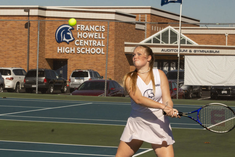 Junior Loryn Thorpe gets ready to hit the ball.